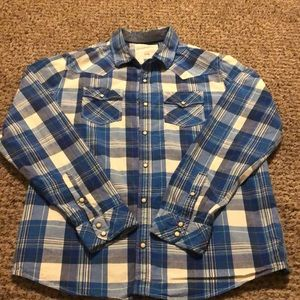 Men's XL Aeropostale Blue Plaid Button Up
